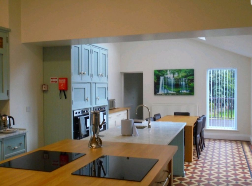 Tenby House kitchen area