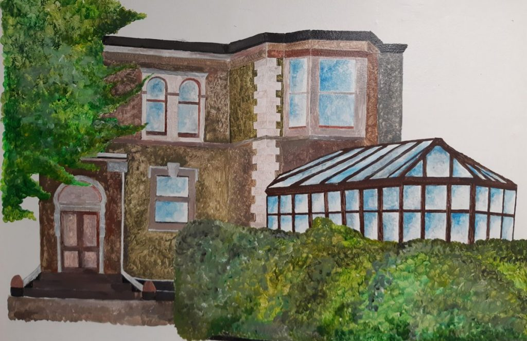 Resident drawing of Helenas House